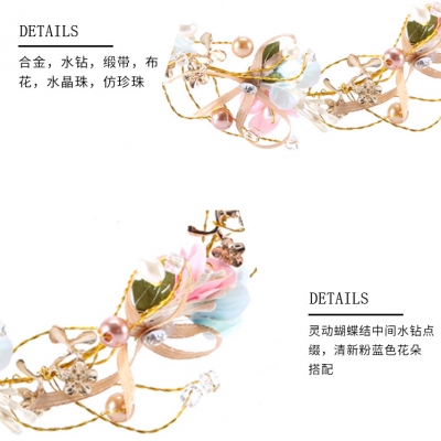beautiful ribbon different color of garland floral hoop wreaths